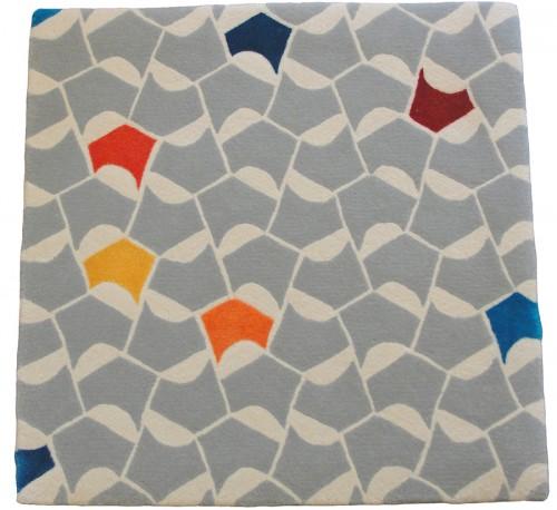 Daniela Aleman Titel: Color Dew sample 60 x 60 cm 92 % wool 8 % delicate silk handtufting