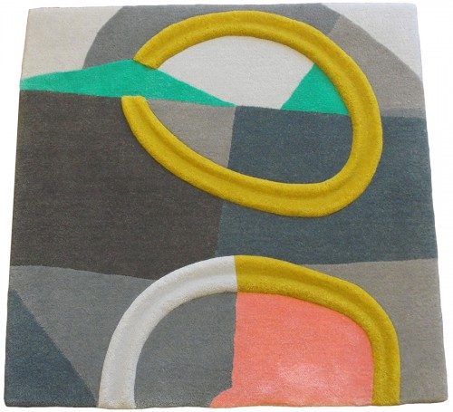 sample 60 x 60 cm 87 % wool 13 % delicate silk handtufting